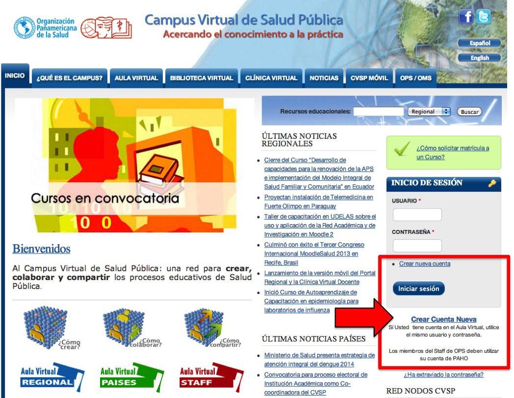 Crear cuenta CVSP