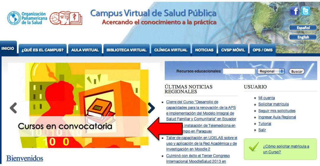 Banner de cursos en convocatoria CVSP
