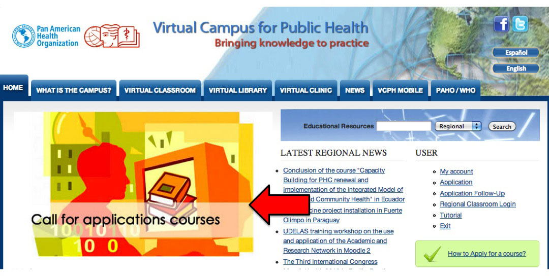 """Banner """"Call for Applications"""" VCPH courses"""