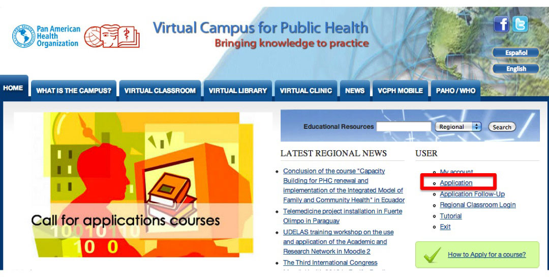 Course application VCPH