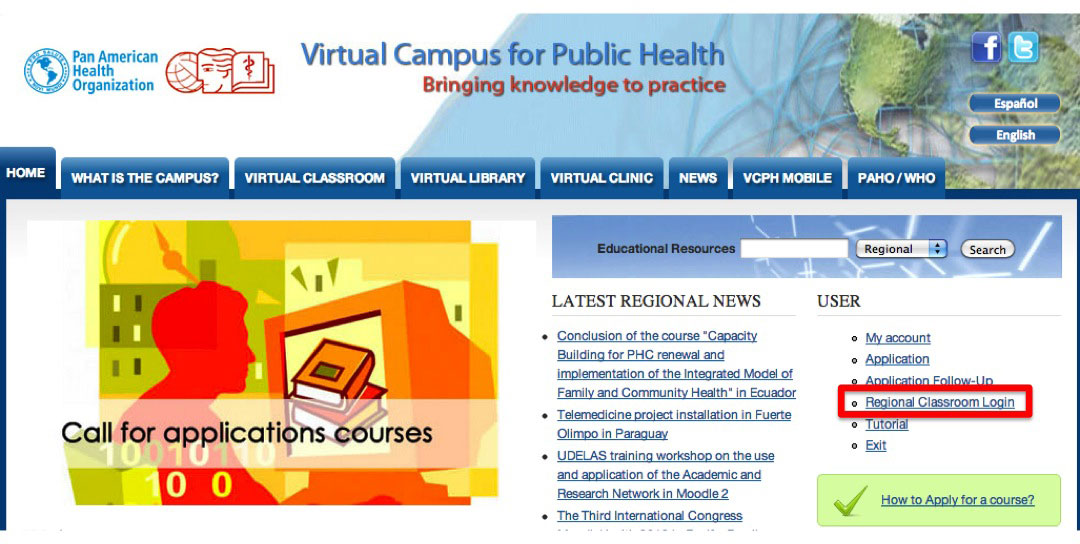 Regional Virtual Classroom VCPH